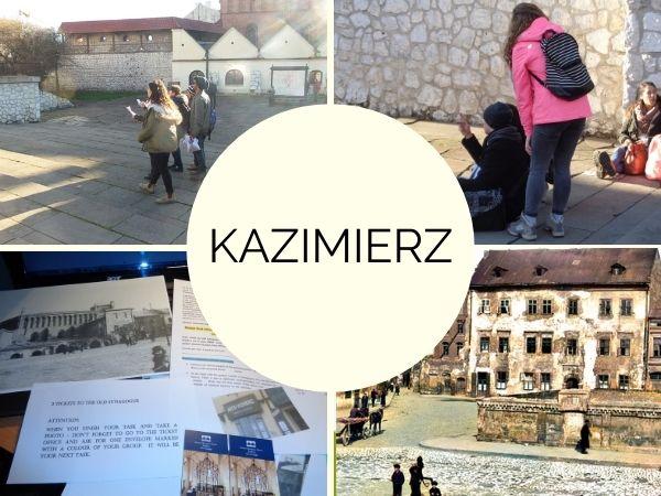 gra miejska na krakowskim Kazimierzu